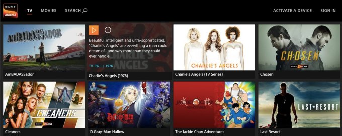 Sony Crackle- legal movie streaming and unblocked films at school