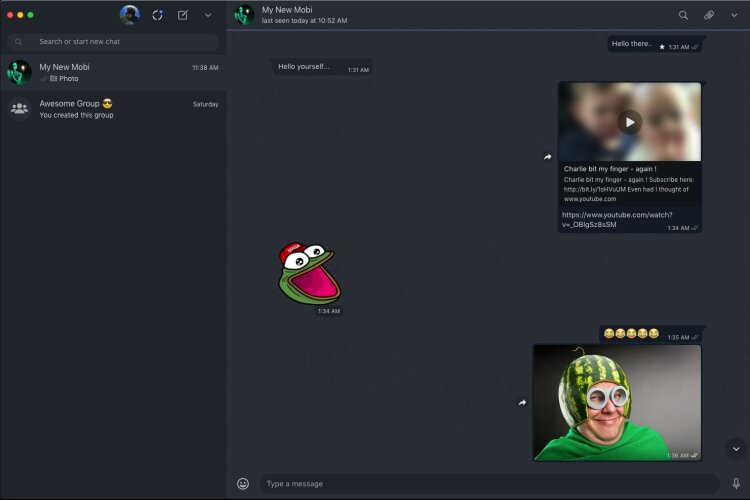 WhatsApp Desktop Dark mode Mac