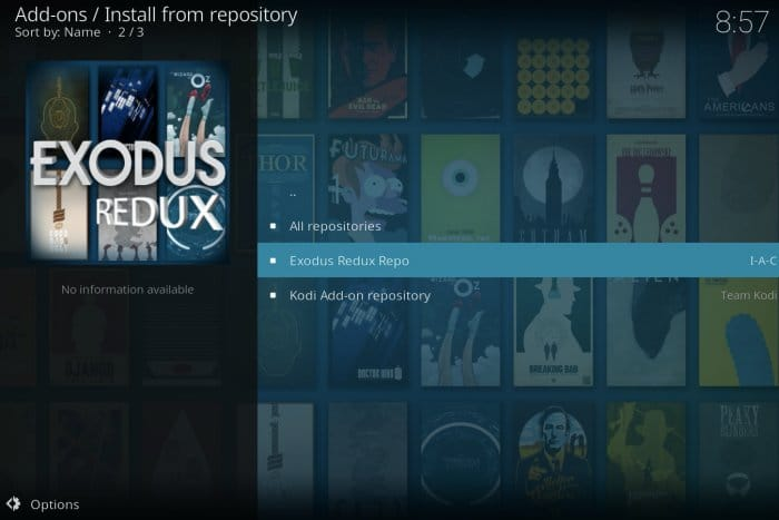Choose the right repository for addons to install