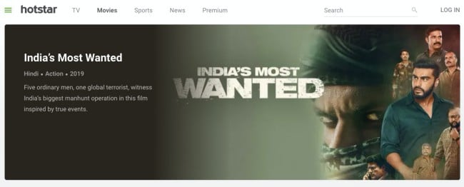 Hotstar- download indian movies legally and free