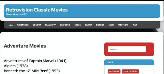 Retrovision- download free classic movies online legally
