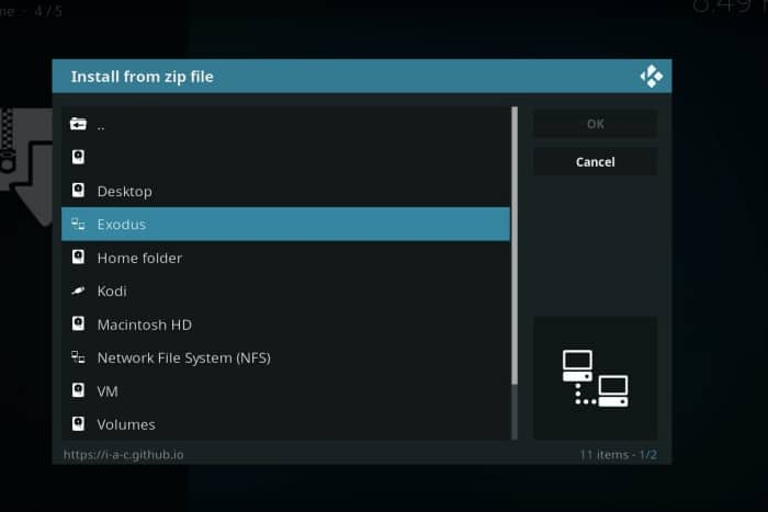 Select source name- free kodi addons