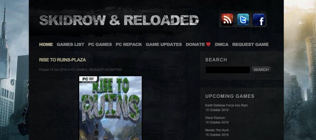 Skidrow and Reload- free torrent downloads for games