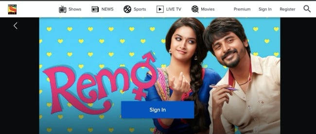 Sony LIV- free download Hindi movies online legally