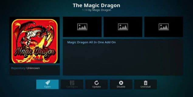 The Magic Dragon on Kodi lets you watch HD movies online