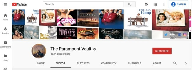 YouTube Movies- best sites to download movies from the web