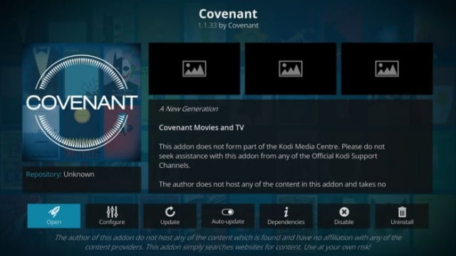 Covenant kodi addon for movies