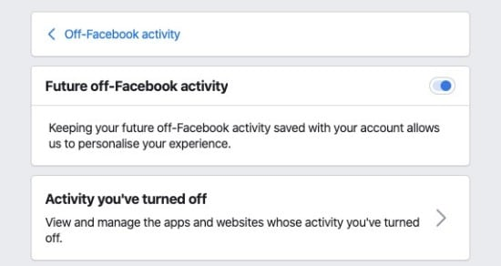 FUTURE OFF-FACEBOOK ACTIVITY
