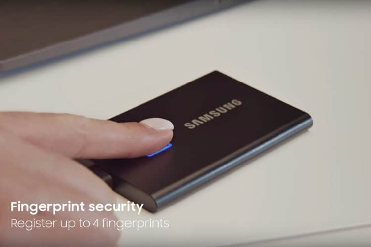 Samsung SSD T7 WIth Finger-print scanner
