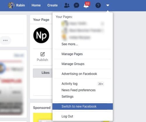 Enable dark mode on Facebook desktop