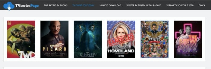 TVSeriesPageInfo- free TV series download site