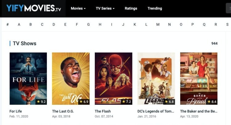 Yify Movies free TV shows download