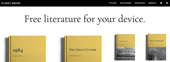Planet Ebook- download classic literature for free online