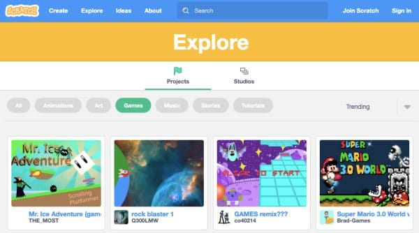 Scratch-Unblocked Games to Play at School