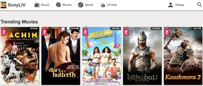 SonyLiv - watch online hollywood movies in hindi