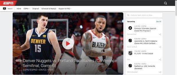 Watch free sports online free -ESPN
