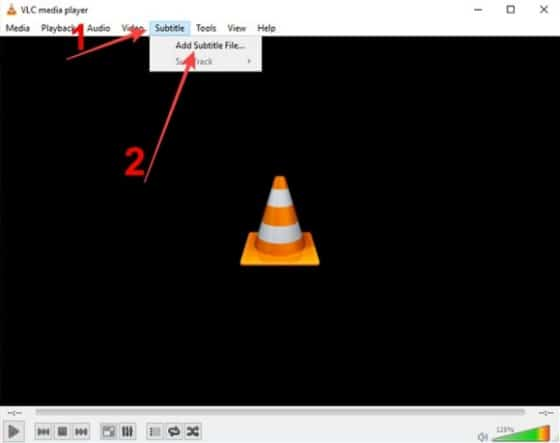 add subtitles to VLC media player for Windows
